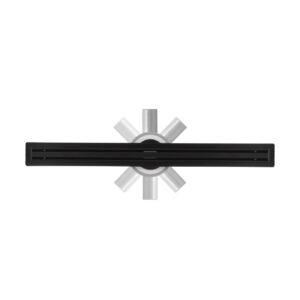 Душовий лінійний трап Slim Black 60cm